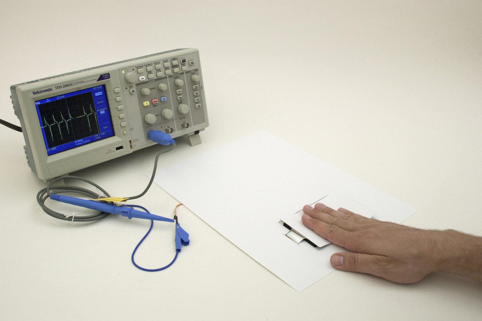 Disney Research Paper Generators Harvesting Energy From Button Connected To  An Oscilloscope