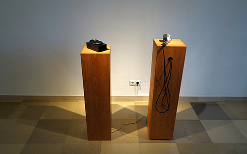 Ishin-Den-Shin was exhibited at Cyber Arts 2013 Exhibition in Linz.